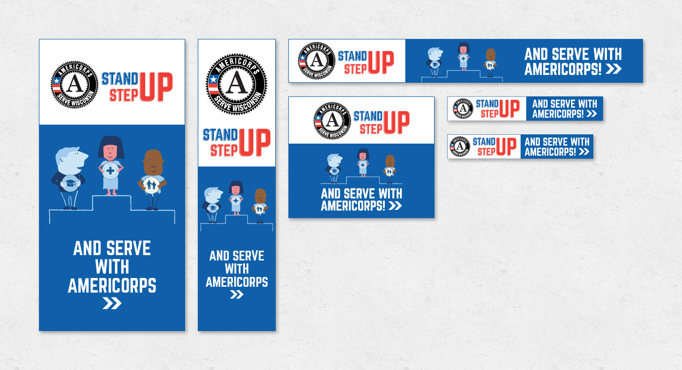 standup stepup banner ads